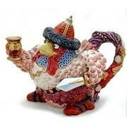 Teapot...I have this one.  ATTILA HEN