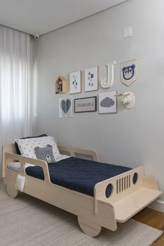 Three bedrooms for boys, made from mother to son, by Triplex Arquitetura # . - Three bedrooms for boys, made by mother to son, by Triplex Arquitetura - Bedroom Bed Design, Baby Bedroom, Bedroom Decor, Bedroom Ideas, Bedroom Boys, Baby Crib Bedding, Bedroom Designs, Kids Bedroom Furniture, Baby Furniture
