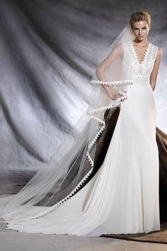 Robe de mariée Orobia de Pronovias : Robes de mariée vintage pour mariage rétro - Journal des Femmes