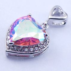 Like and Share if you want this  New Rose Rainbow Mystic Crystal Zircon Woman 925 Sterling Silver Crystal pendant TE375     Tag a friend who would love this!     FREE Shipping Worldwide     Get it here ---> http://jewelry-steals.com/products/new-rose-rainbow-mystic-crystal-zircon-woman-925-sterling-silver-crystal-pendant-te375/    #cheap_jewelry