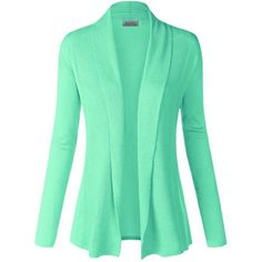 BIADANI Women Classic Soft Long Sleeve Open Front Cardigan Sweater ($14) ❤ liked on Polyvore featuring tops, cardigans, open front cardigan, long sleeve cardigan, open cardigan, long sleeve tops and long sleeve open cardigan