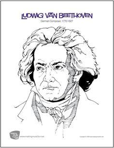 Printable Beethoven Coloring Page Free PDF Download At