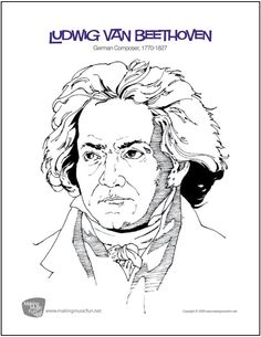 ludwig van beethoven free composer coloring page