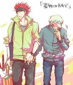 One Piece - Eustass Kid x Trafalgar Law - KidLaw One Piece Ace, One Piece Ship, Zoro, Trafalgar Law Wallpapers, One Piece Pictures, One Piece Fanart, Undertale Cute, Wattpad, Anime One