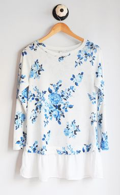 Floral Contrast Tunic