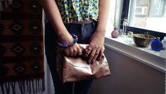 ☩DIY☩ No Sew Leather Paper Bag Clutch