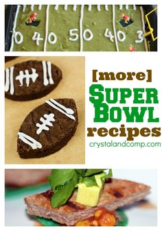 Easy Super Bowl Recipes featured at @Crystal (www.crystalandcomp.com)