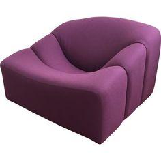 """Fauteuil Artifort """"ABCD"""" violet, Pierre PAULIN - 1960"""