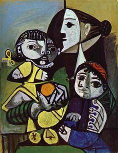 'Françoise, Claude et Paloma' by Pablo Picasso (1951)