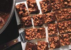 Chocolate -Dipped Hazlenut Caramel Bars