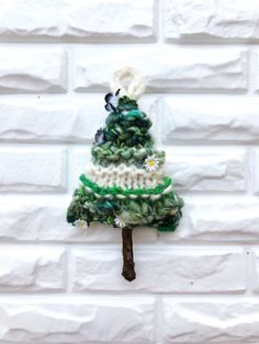 Knit and Crochet Tree Ornaments