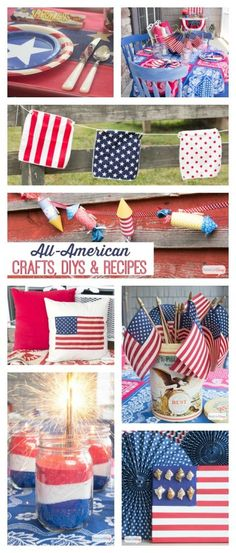 Looking for a handmade or homemade way to show your patriotism? Check out these 4th of July Ideas. You'll find crafts, recipes, DIY projects, decorating and party ideas.