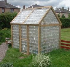 recycling plastic bottles for greenhouse design