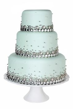 Baking Goes Bling; Bling Wedding Cakes (BridesMagazine.co.uk)