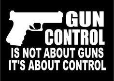 Gun-Control-Decal-car-truck-window-vinyl-sticker-pro-guns-graphic