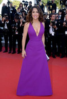 Salma Hayek in Gucci Gown at Carol Premiere at 2015 Cannes Film Festival
