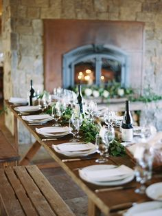 Organic Outdoor Mountainside Wedding via oncewed.com
