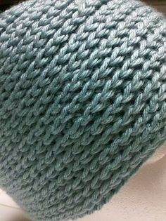 Camel stitch ... looks like a knit stitch. This is crochet so will go fast but looks knit.