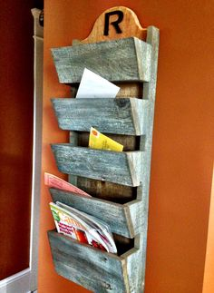Rustic Mail Organizer by ThreeArrowDesign on Etsy, $90.00 LOVE THIS!!