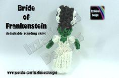 Rainbow Loom - Halloween Bride of Frankenstein