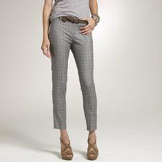 Women's new arrivals - pants - Glen plaid Minnie pant - J.Crew