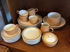 Franciscan Earthenware Sierra Sand dinnerware. Available at Mid Mod Collective. Email midmodcollective@gmail.com for more info.