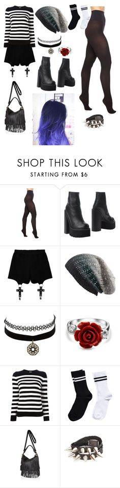 """Untitled#5"" by madisonpearl on Polyvore featuring Commando, Jeffrey Campbell, Chicnova Fashion, Michael Stars, Charlotte Russe, Bling Jewelry, Yves Saint Laurent, Pieces and River Island"
