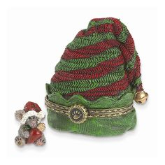 Boyds Elf Hat Treasure Box Figurine - Perfect Christmas Gift
