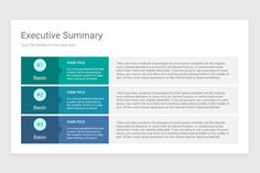 Executive Summary PowerPoint PPT Template is a professional Collection shapes design and pre-designed template that you can download and use in your PowerPoint. The template contains 12 slides you can easily change colors, themes, text, and shape sizes with formatting and design options available in PowerPoint. Ppt Template, Logo Templates, Executive Summary Template, Slide Design, Lorem Ipsum, Facts, Words, Change, Shapes