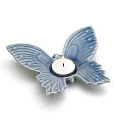 Blue Butterfly Tealight Holder