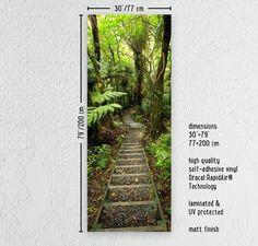 Porte vignette forêt chemin vinyle autocollant par MadeForHomePL