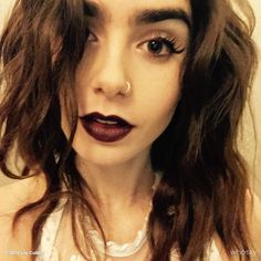 when she use dark lips! <3