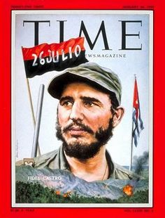 Cuban Revolution is feature of the Time magazine cover in July 1959.