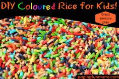 DIY Coloured Rice for Kids