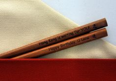 laser engraved chopsticks with birthday wishes