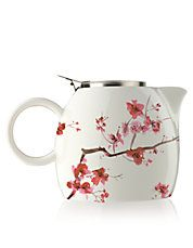 Cherry Blossom Ceramic Teapot