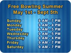 All star lanes summer kids club bowling