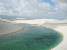 The dunes of Lencois Maranhenses in northern Brazil