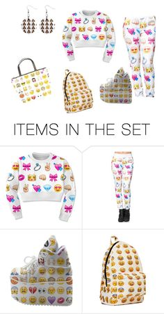 """Emoji EVERYTHING"" by kaelaa004 ❤ liked on Polyvore featuring arte"