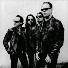 Metallica - black and white photo