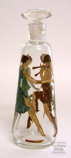 Rigaud - Enamel Figures 1920.  I loved the girls on this bottle.  I pinned it long ago waiting for Just the right board to put this on.