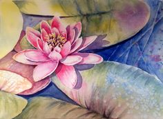 Water Lily---Watercolor on paper                By Mahjabin GG