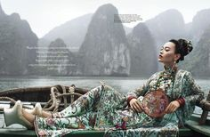 Her Imperial Majesty by Nicoline Patricia Malina, via Behance - Ohhhh, This looks like the Li River in Guilin! My favorite!