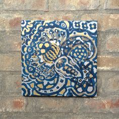 A personal favorite from my Etsy shop https://www.etsy.com/listing/237542839/blue-silver-and-gold-painting-silver-and