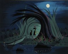 Mary Blair's Peter Pan concept art - THE Master of colour, character, shape and gouache, wonderful!