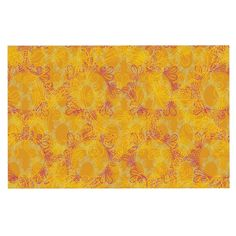 KESS InHouse Patternmuse 'Jaipur Saffron' Yellow Orange Dog Place Mat, 13' x 18' ** Startling review available here  (This is an amazon affiliate link. I may earn commission from it)