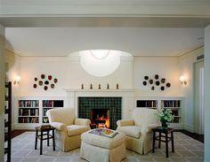 Gray and white geometric decorator rug, GDS Stern