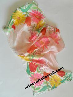 #Pure Silk Scarf - Design 005