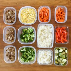When the cooking is done, divide the food up into airtight containers. Let everything cool before you put the lids on, then store in the fridge. | Here's A Make-Ahead Meal Plan That Anyone Can Cook