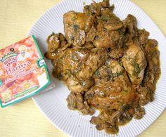 W Mojej Kuchni Lubię.. : porcje kurczaka na ostro z pieczarkami...